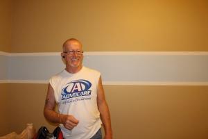 My FIL George, painting Daniel's room!
